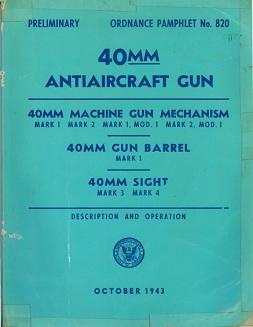 40mm Bofors AA gun manual (US Navy, 1943)