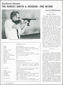 February 1969 article on the M1940 from Gun Facts magazine