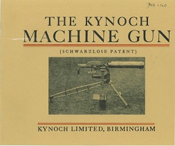 Kynoch Machine Gun sales brochure, 1907