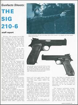 Gun Facts Shoots the Sig P210
