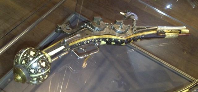 Double-barrel wheellock pistol