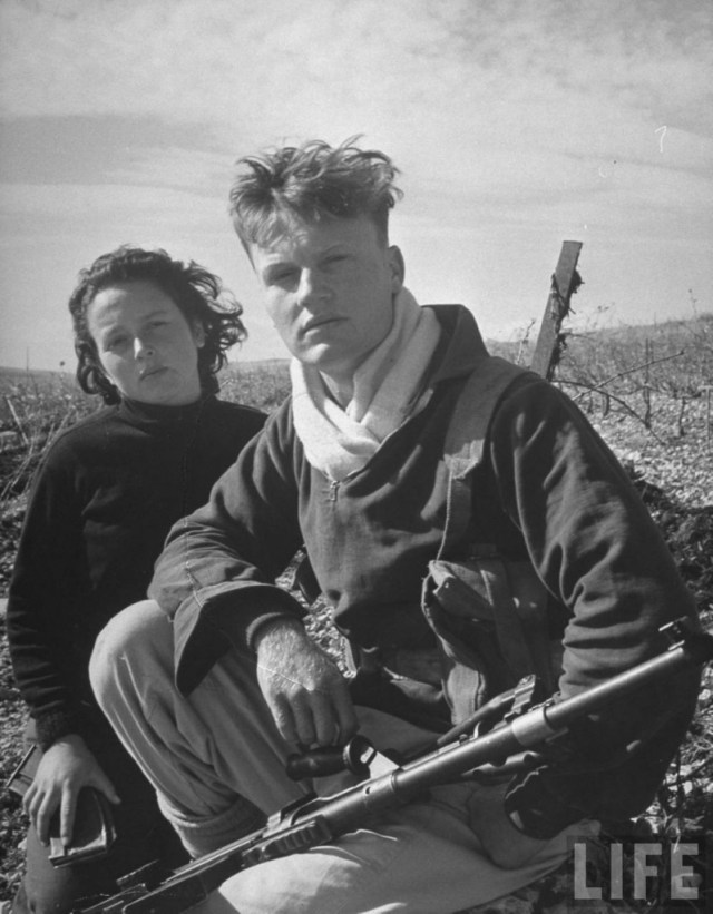 Haganah fighter with a Bren Gun, 1948