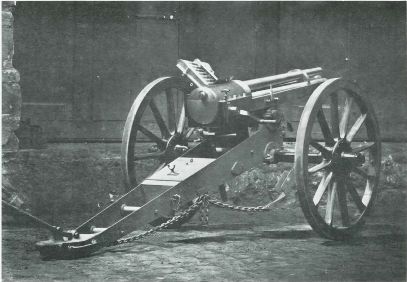 Hotchkiss revolving cannon on naval landing carriage
