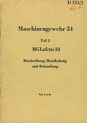 MG34 Lafette mount manual (German), 1943