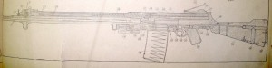 Lewis light semiauto rifle line drawing