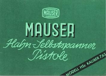 Mauser HSc manual (German)