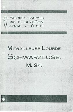 Heavy Machine Gun M.24 (Czech, written in French)