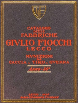 Fiocchi Ammunition Catalog (1926, Italian)