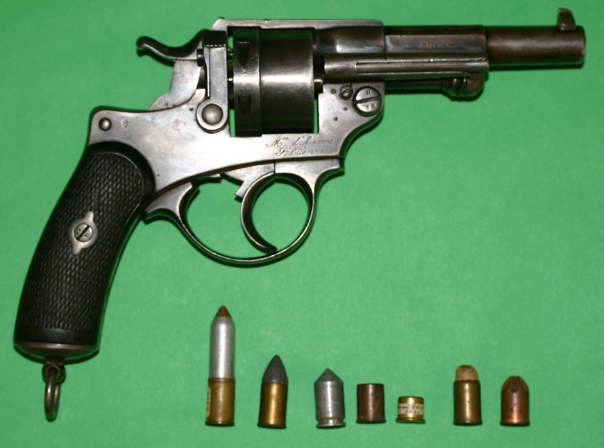 French Model 1873 revolver in 11mm with an assortment of ammunition
