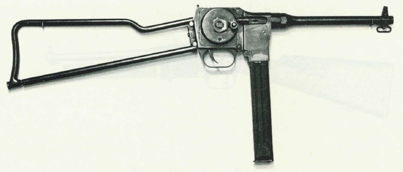 PM9 Submachine Gun, folding stock model