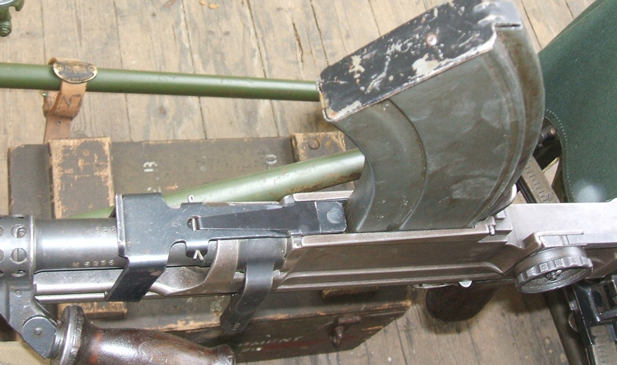 Bren with drum adapter and box magazine in place