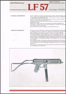 Franchi LF57 sales brochures (English & Italian)