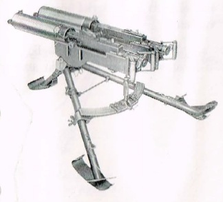 Swedish Kulspruta m/36 Lv Dbl on a ground tripod