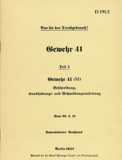 Gewehr 41(M) Manual (German, 1942)