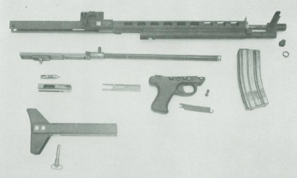Low Maintenance Rifle field stripped