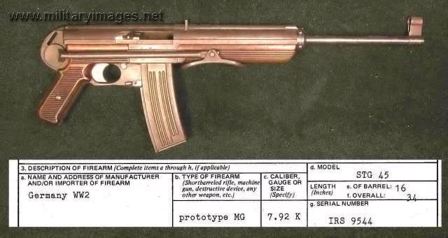 StG-45 prototype - actually Swiss