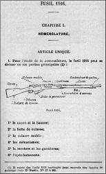 Fusil 1916 Berthier manual (French)