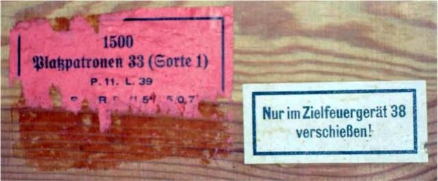 ZfG38 wooden bullet ammunition