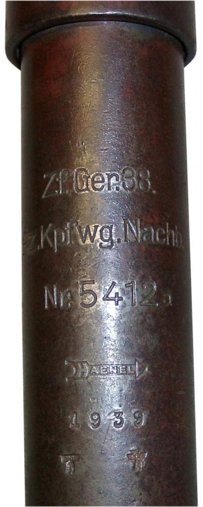 ZfG38 markings