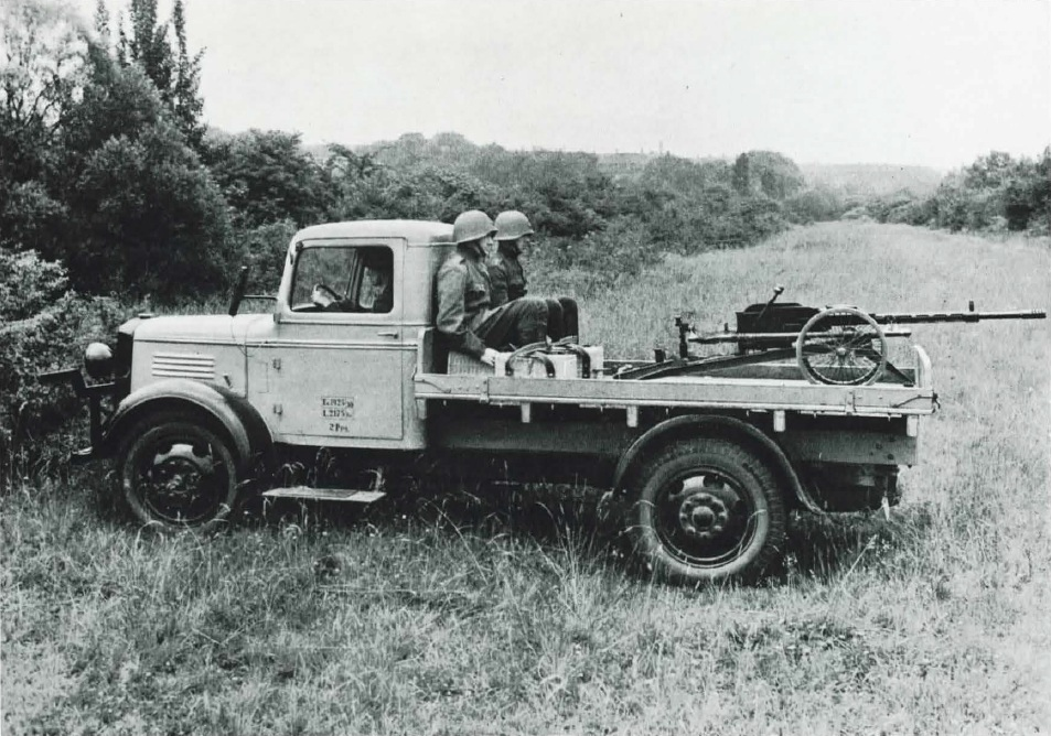Danish truck with a Madsen 20mm cannon - 1936