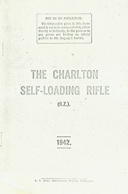 Charlton Self-Loading Rifle manual (English, 1942)