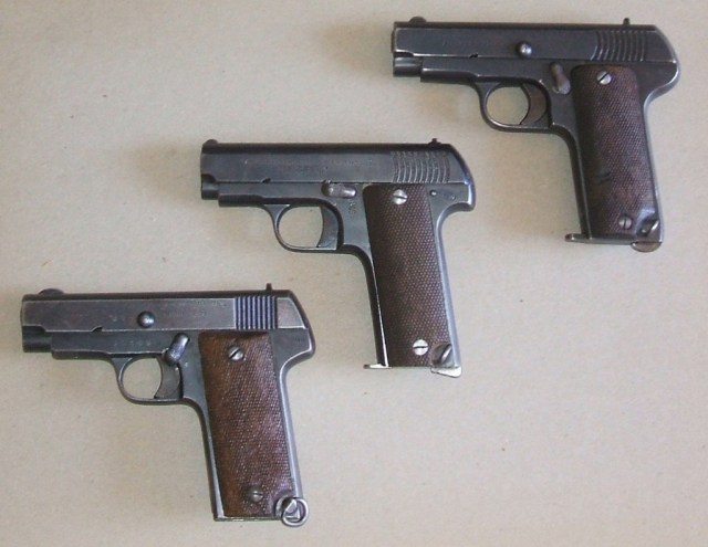 Three Spanish Ruby/Eibar pistols from various makers