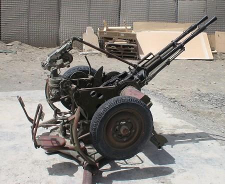 Two KPV heavy machine guns in a dual AA mount
