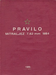 Yugoslav M84 (PK) manual (Croatian, 1989)