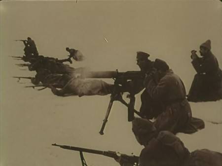 Vickers in use by Russian soldiers
