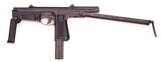 PM63 machine pistol ready to fire
