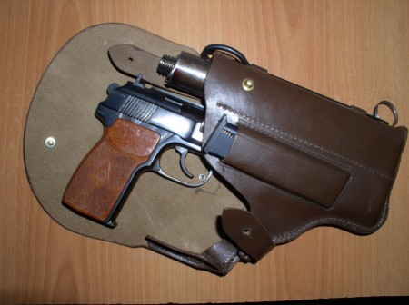 Russian PB silenced pistol in holster