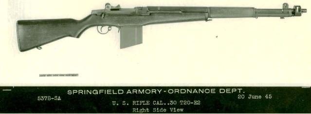 Garand T20E2 rifle