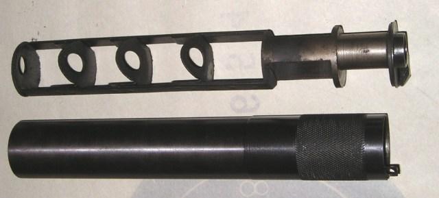 APB silencer disassembled