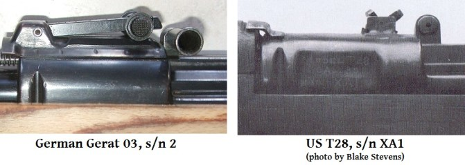 Comparison of T28 and Gerat 03 rifle receivers