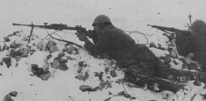 Breda M30 on the Russian front