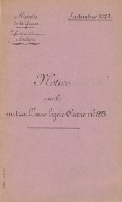 Darne Mle 1923 manual (French, 1923)