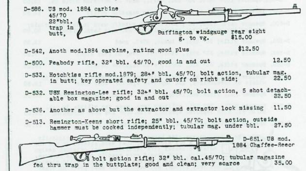 Vintage rifle ad