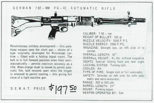 Vintage FG42 advertisement