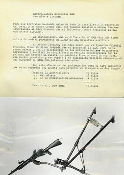 Hotchkiss M1922 MA4 (heavy barrel) brief description (Spanish)