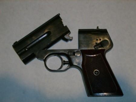 S4M pistol, open for reloading