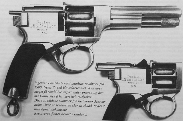 Landstad automatic revolver slide locked open
