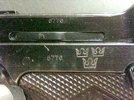Swedish Lahti M40 pistol