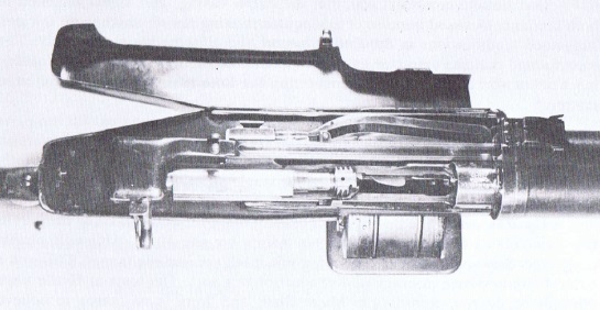 View inside the Huot breech