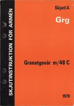 Granatgevar m/48C Manual (Swedish, 1979)