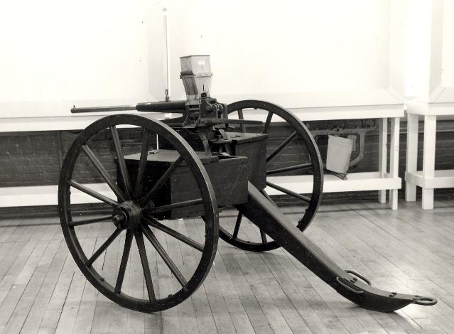Union Repeating Gun on carriage
