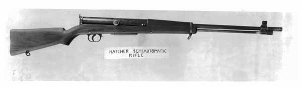 Bang self-loading rifle as modified by Capt. James Hatcher