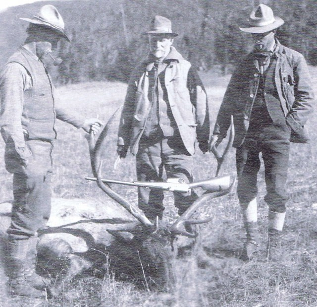 John M Browning hunting in Wyoming, ca 1910