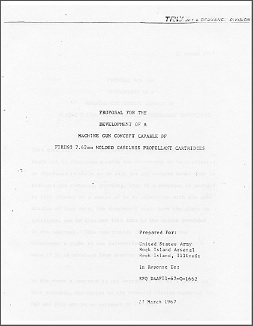 TRW Caseless Machine Gun Proposal (English, 1967)
