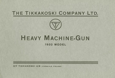 Heavy Machine Gun Model 1932 - Maxim (English, 1933)