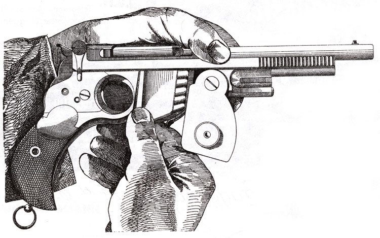 Demo of loading a Bergmann 1894 pistol